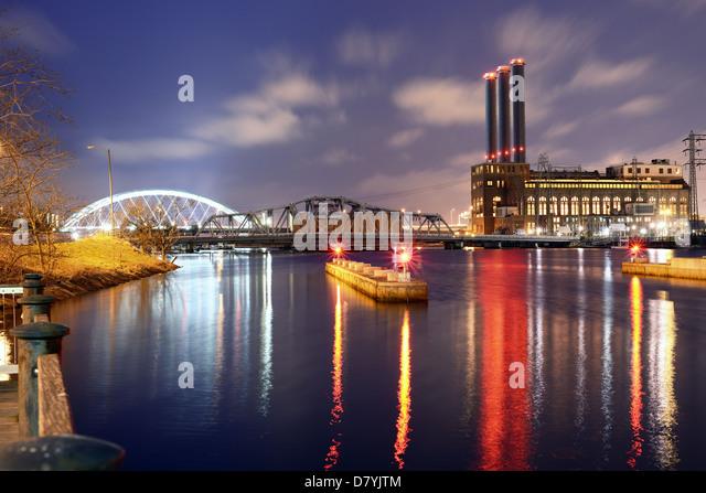 Providence River in Providence, Rhode Island Stockbild