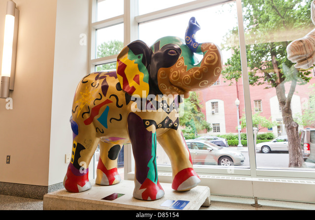 Republikanische Elefant Skulptur Stockbild
