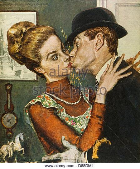 Statischer Schock Kiss 1962 Stockbild