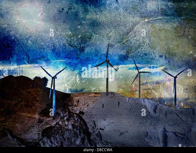 Windmühlen, Neuseeland - Stock-Bilder