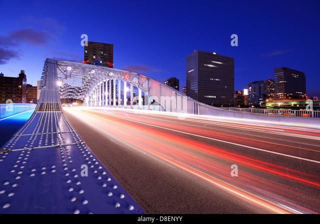 Brücke in Tokio, Japan. Stockbild