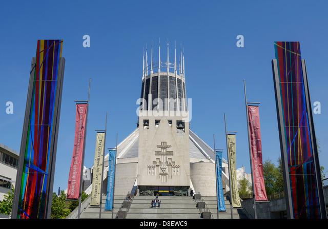 Römisch-katholische Kathedrale in Liverpool Stockbild