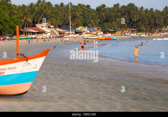 Palolem Beach, Goa, Indien Stockbild