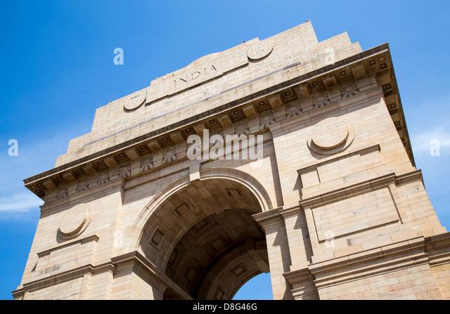 India Gate, Neu-Delhi, Indien Stockbild
