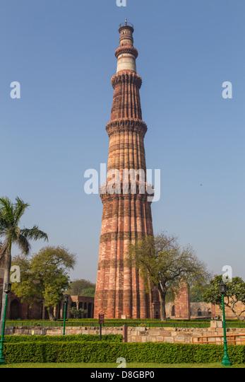 Qutub Minar, Delhi, Indien Stockbild