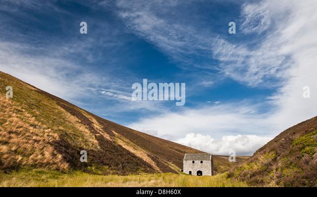 Ehemalige Lecht Mine, Schottisches Hochland, Schottland, Vereinigtes Königreich Stockbild