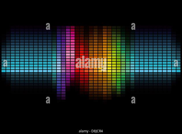 Grafik-Equalizer-Anzeige Stockbild