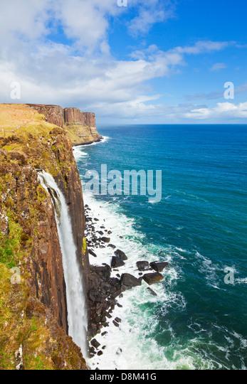 Kilt Rock Wasserfall Isle Of Skye Highlands und Inseln Schottland Großbritannien GB EU Europa Stockbild