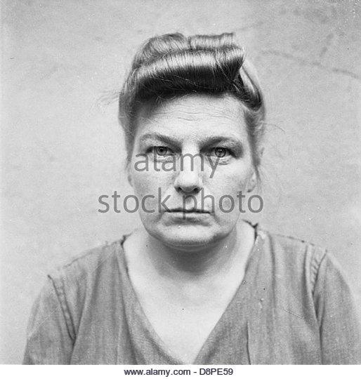 Die Befreiung von Bergen-belsen KZ 1945-Porträts von Bergen-Belsen Wachen bei Celle Untersuchungshaft, August Stockbild