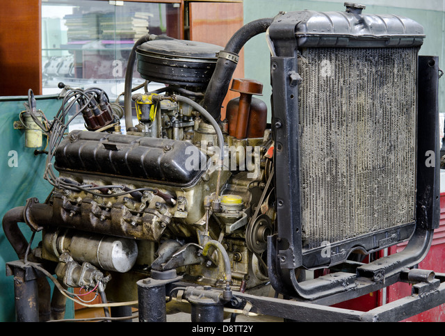 veraltete defekten Motor Stockbild