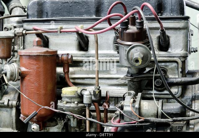 veraltete Benzinmotor Stockbild