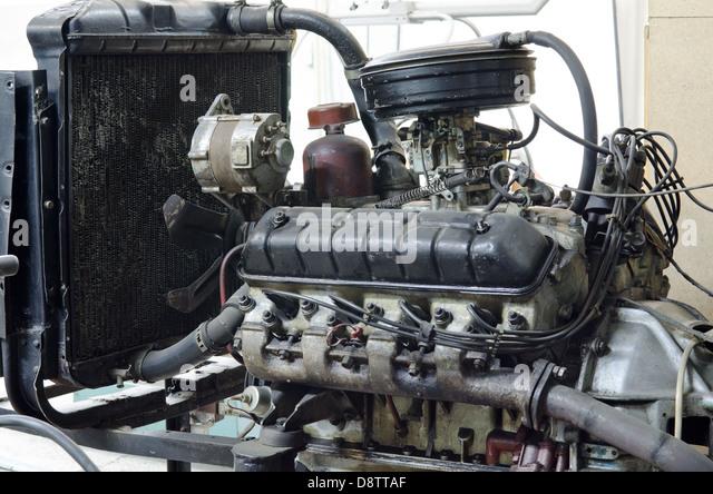 veraltete Retro-Motor Stockbild