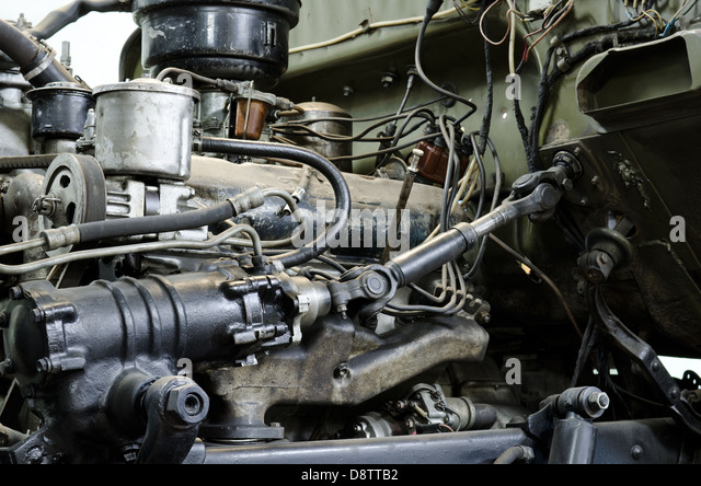 veraltete Benzin-Motor Stockbild