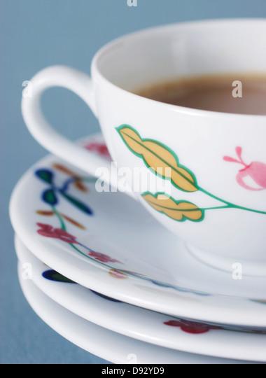Studioaufnahme Kaffeetasse Stockbild