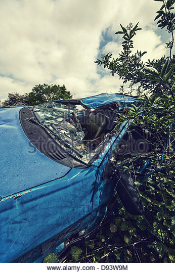 Auto Crash Stockbild