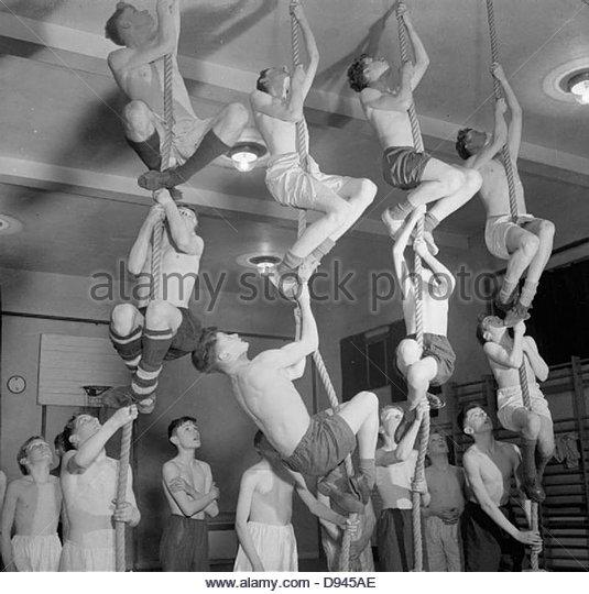 Uppingham - Corby Boys Club - körperliches Training und soziale Aktivitäten in Corby, Northamptonshire, Stockbild