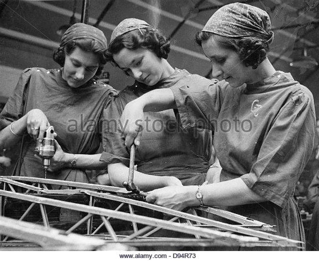 Frauen Fabrik Krieg arbeitest du Slough Training Centre, England, UK, 1941 D3627 Stockbild