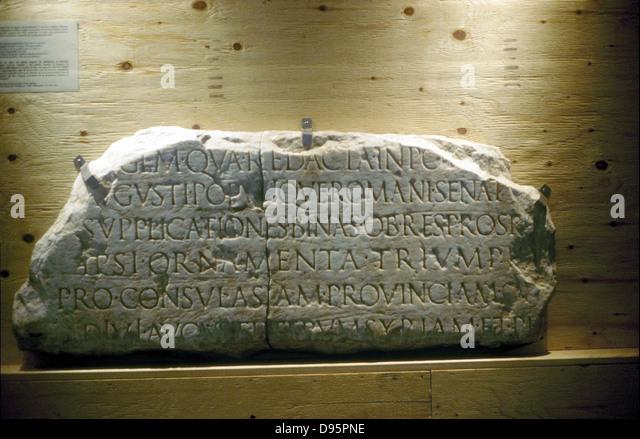 Lateinische Inschrift (Roman) Stockbild