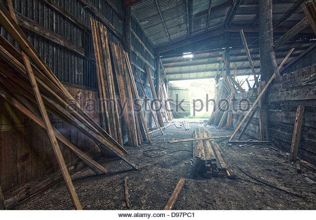 Holzlagerplatz Stockbild