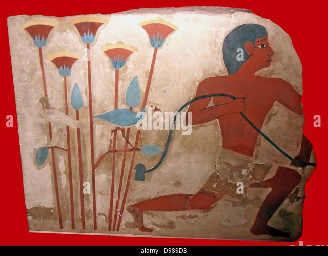 Grabbeigaben Skulpturen und Gemälde des alten Königreichs und erste Zwischenperiode Stockbild