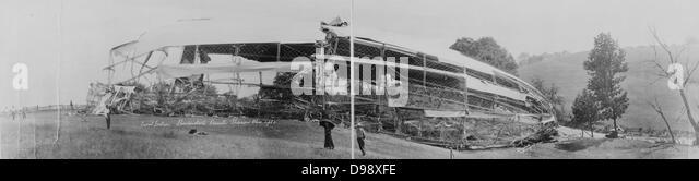 Frontpartie, Shenandoah Katastrophe, Sharon, Ohio, 1925. Luftfahrt Unfall. Stockbild
