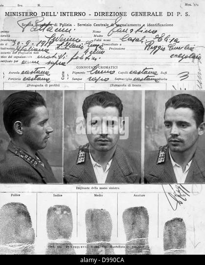 Informationen zu Fausto Pattacini Tuning (1917 ? 1997), ehemaliger Kämpfer und politischer Gefangener in Spanien, Stockbild