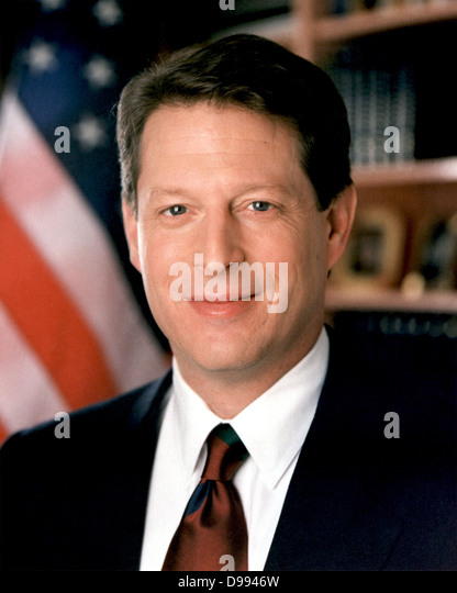 """Albert Arnold """"Al"""" Gore, diente der 45. Vizepräsident der Vereinigten Staaten 1993-2001 unter Präsident Stockbild"""