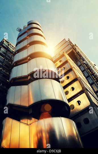 sonnigen Architektur Lloyds building Stockbild