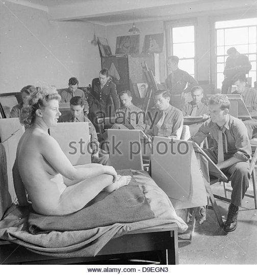 US-Armee Universität, Shrivenham, England, Vereinigtes Königreich, 1945 D26032 Stockbild