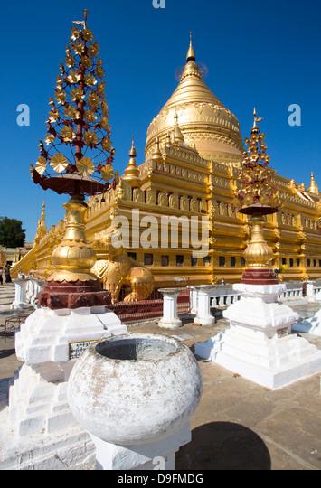 Shwezigon Pagode, Nyaung U, Bagan, Myanmar (Burma) Stockbild