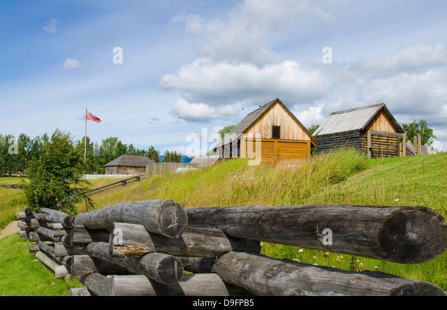 Fort St. James National Historic Site, British Columbia, Kanada Stockbild