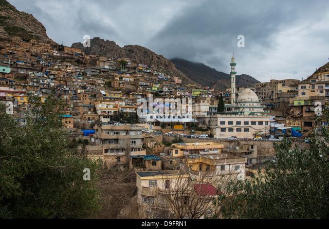 Alte Stadt von Akre, Kurdistan-Irak, Irak, Nahost Stockbild