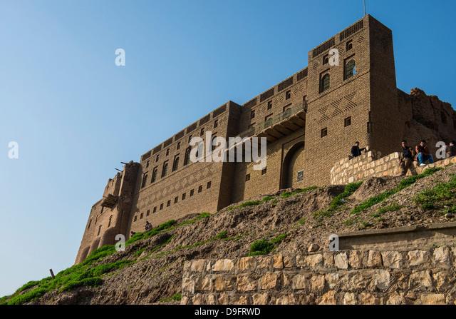 Die Zitadelle von Erbil (Hawler), Hauptstadt von Kurdistan-Irak, Irak, Naher Osten Stockbild