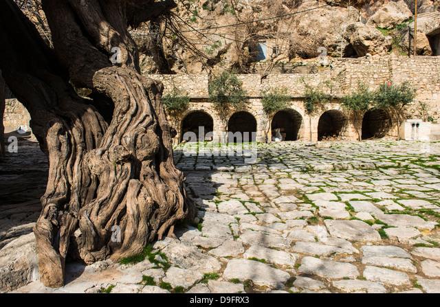 Monotheistisch, Hauptstadt der kurdischen Sekte der Jesiden im Irak Kurdistan, Irak, Nahost Stockbild
