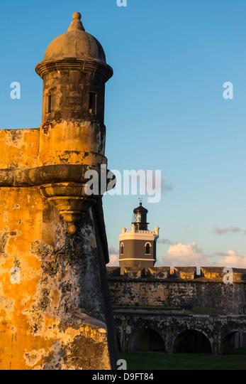 San Felipe del Morro Castle, UNESCO-Weltkulturerbe, San Juan historische Stätte, Puerto Rico, Caribbean Stockbild