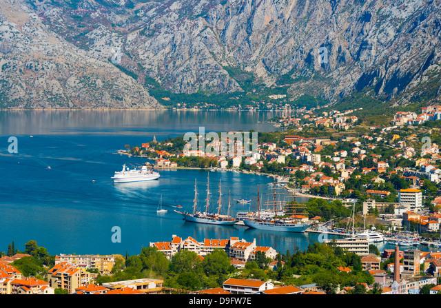 Kotor Bucht von Kotor, UNESCO World Heritage Site, Montenegro Stockbild