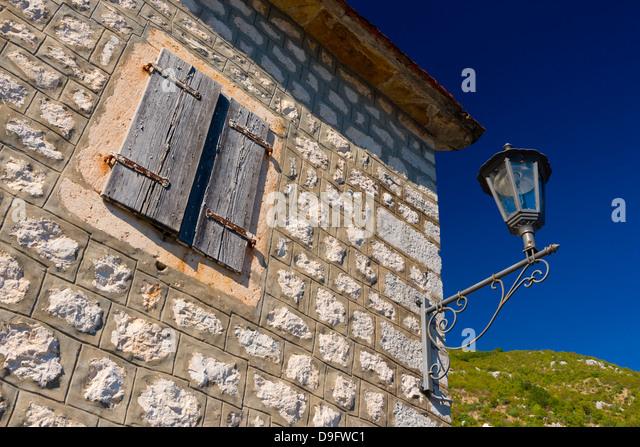 Bucht von Kotor, Perast UNESCO World Heritage Site, Montenegro Stockbild