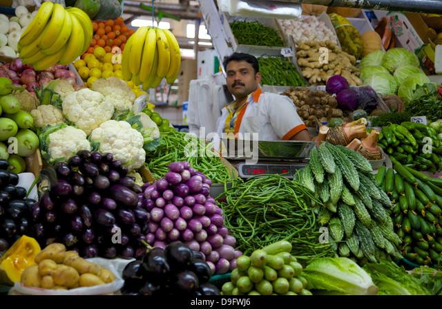 Gemüse- und Fleischmarkt, Al Ain, Abu Dhabi, Vereinigte Arabische Emirate, Naher Osten Stockbild