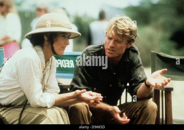 Robert Redford und Meryl Streep jenseits von Afrika 1985 Stockbild