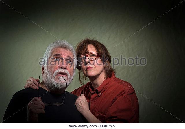 Die Unterstützung von Mann Frau Stockbild