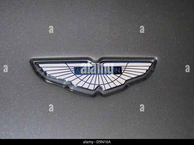 Aston Martin Auto emblem Stockbild