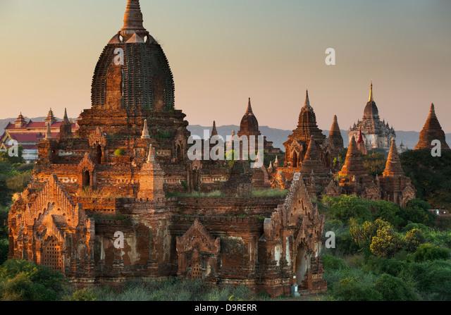 die Tempel von Bagan, Myanmar (Burma) Stockbild