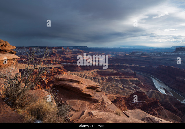 Das Colorado-Tal von Dead Horse Point, Utah, USA Stockbild