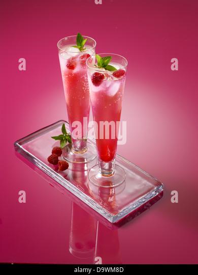 Rosa Getränke Stockbild