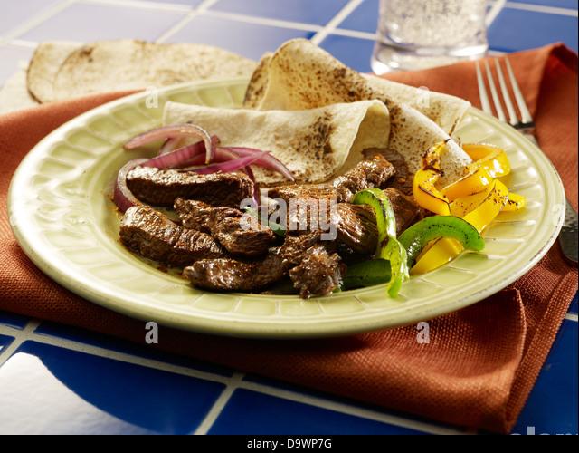 Runde Fleisch in Szene Stockbild