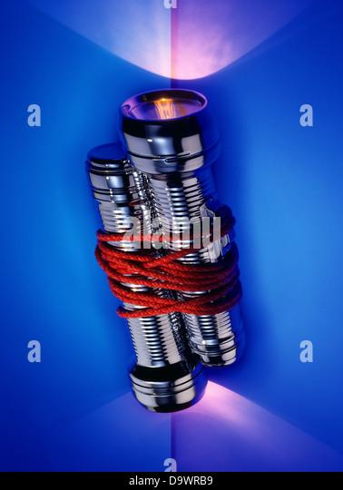 Lampe Fackeln eng zusammen Stockbild