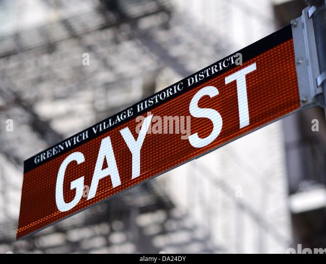 Gay Street im Greenwich Village historischen Bezirk von New York City. Stockbild