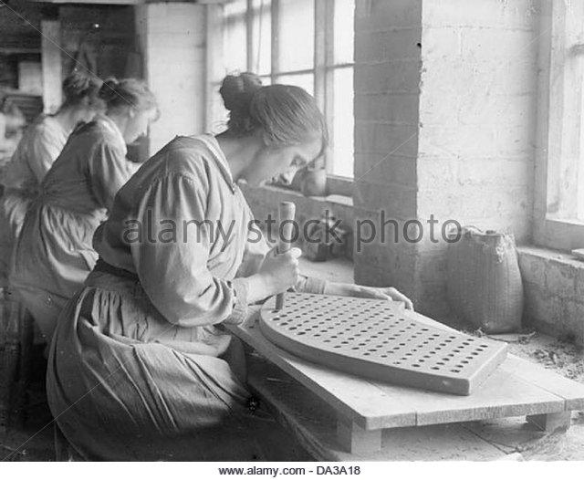 Während des ersten Weltkriegs - Leicestershire Q28111 Industrie Stockbild