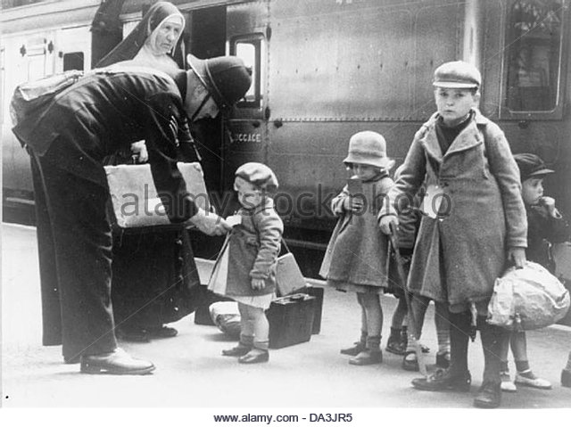 Die zivilen Evakuierung Regelung in Großbritannien während des zweiten Weltkriegs-LN6194 Stockbild