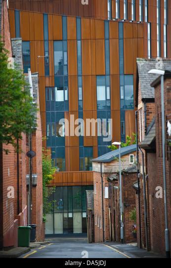 Alte und moderne Baustile in Leeds West Yorkshire England UK Stockbild